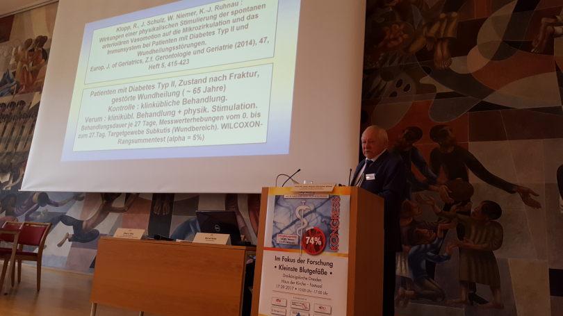 Prof. Klopp vom Institut für Mikrozirkulation