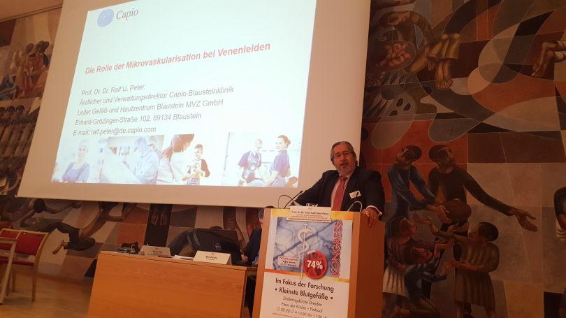 Prof. Peter, Klinikdirektor Capio Blaustein und Präsident  Deutsche Venenliga